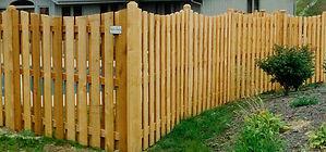 Scalloped Shadowbox Fence