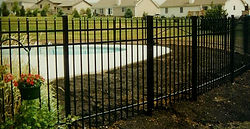 Ormamental Aluminum Fence Style 101 by Wayne's Fencing