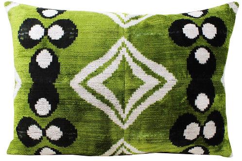 Oversize Reversible Silk Velvet Chintamani Pillow