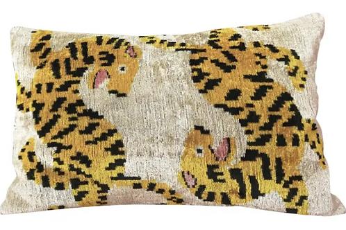 Silk Velvet Lumbar Accent Pillow