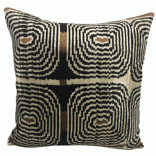 Mid-Century Modern Silk Velvet Pillow.