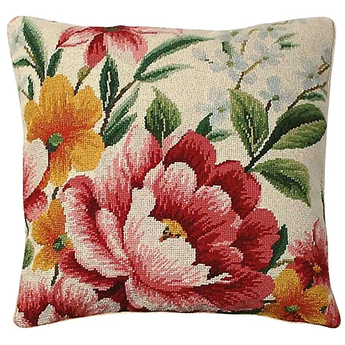 copy of Floral Needlepoint Pillow