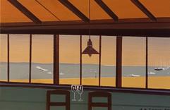 4 Déjeuner plage Pereire acrylique toile