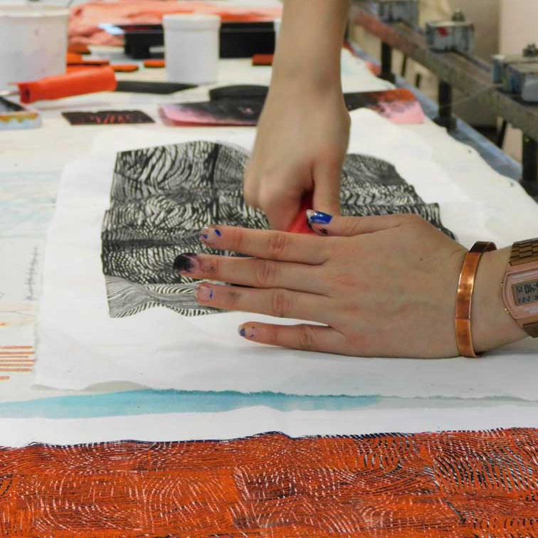 Upcycling: Mending and overprinting