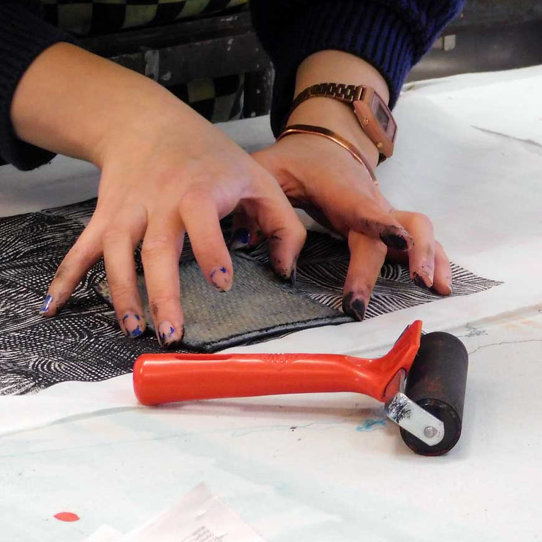 Upcycling: Mending and overprinting (1)