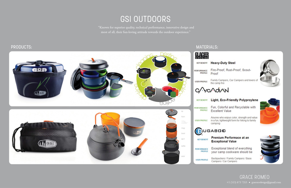 Camping gear for GSI Outdoors
