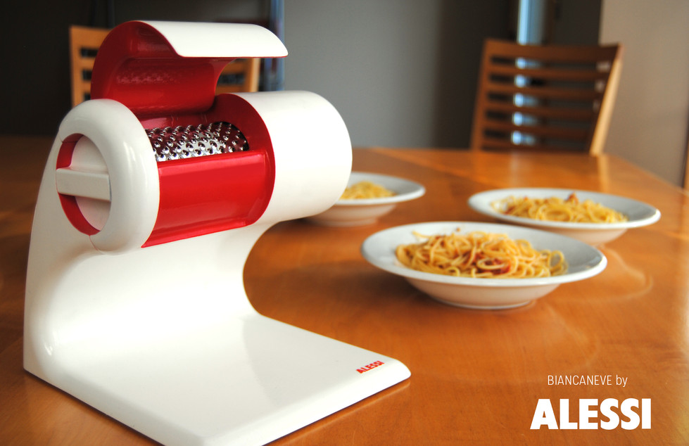 Electric cheese grater for Alessi