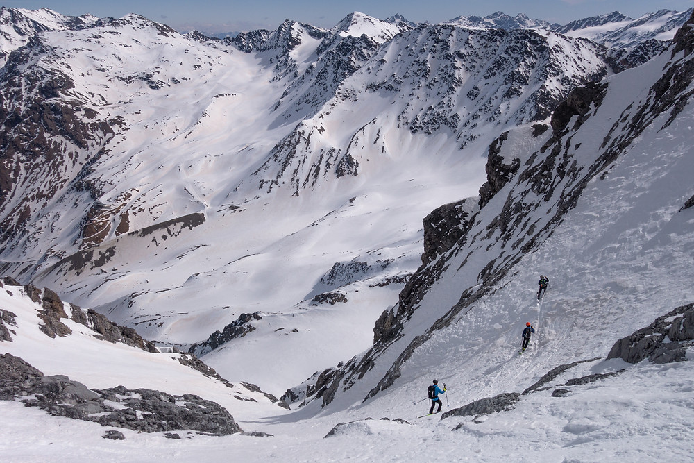 Königsspitze, Skitour, Canale delle Pale Rosse, Südrinne, Ostrinne