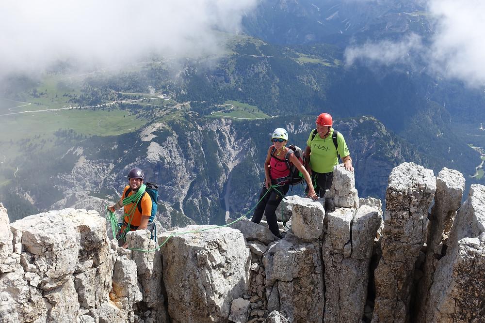 Hohe Gaisl Innerkofler Topo Alpinklettern Pragser Dolomiten