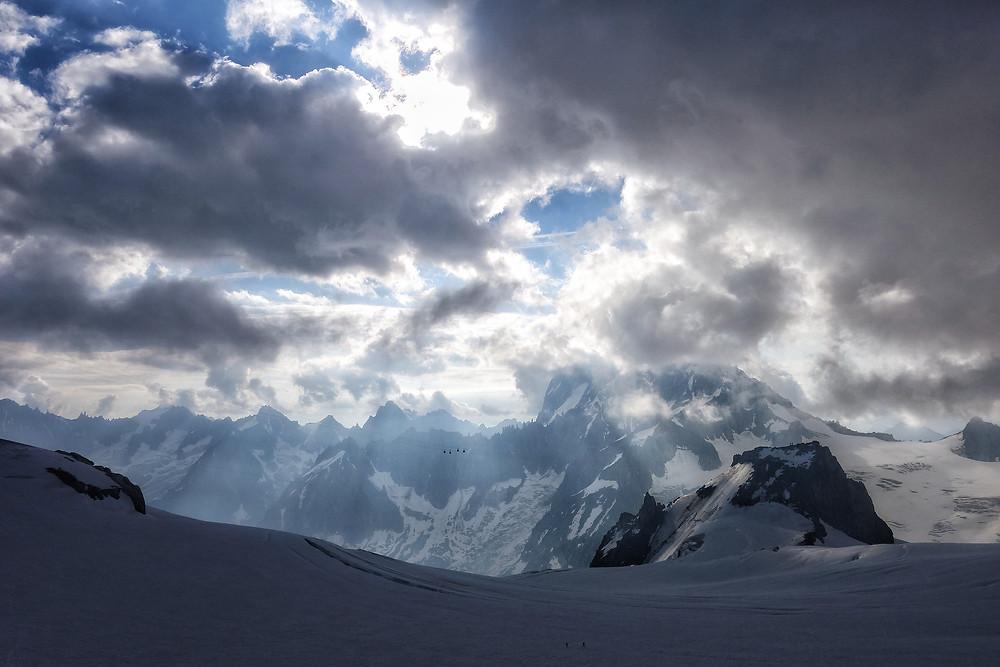 Aiguille du Midi Cosmique Grat Mont Blanc Chamonix