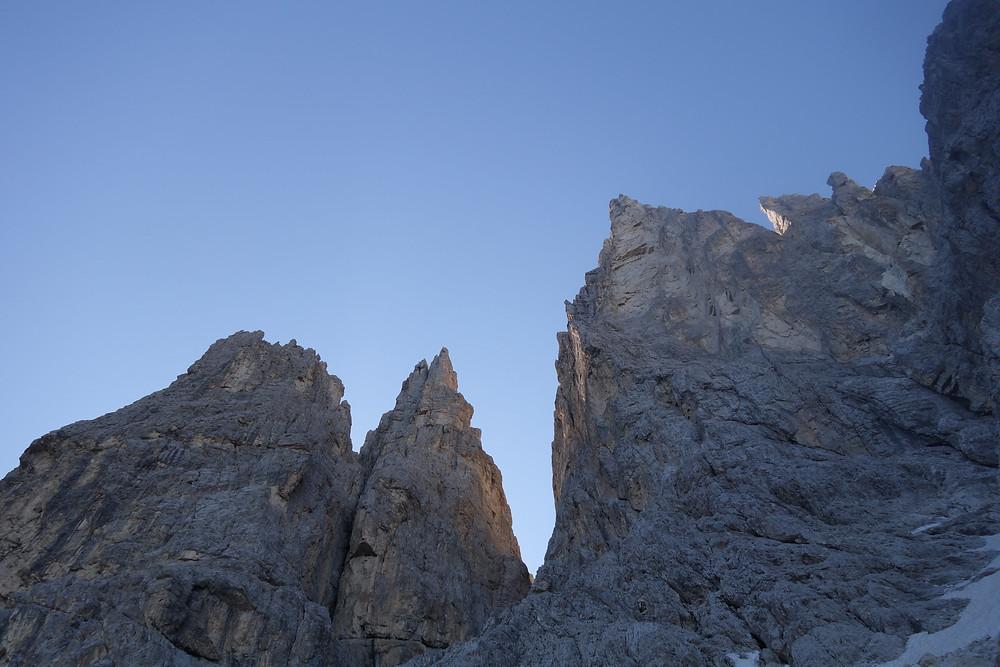 Alpinklettern Delagoturm Rosengarten Vajolettürme Schrott Hasse