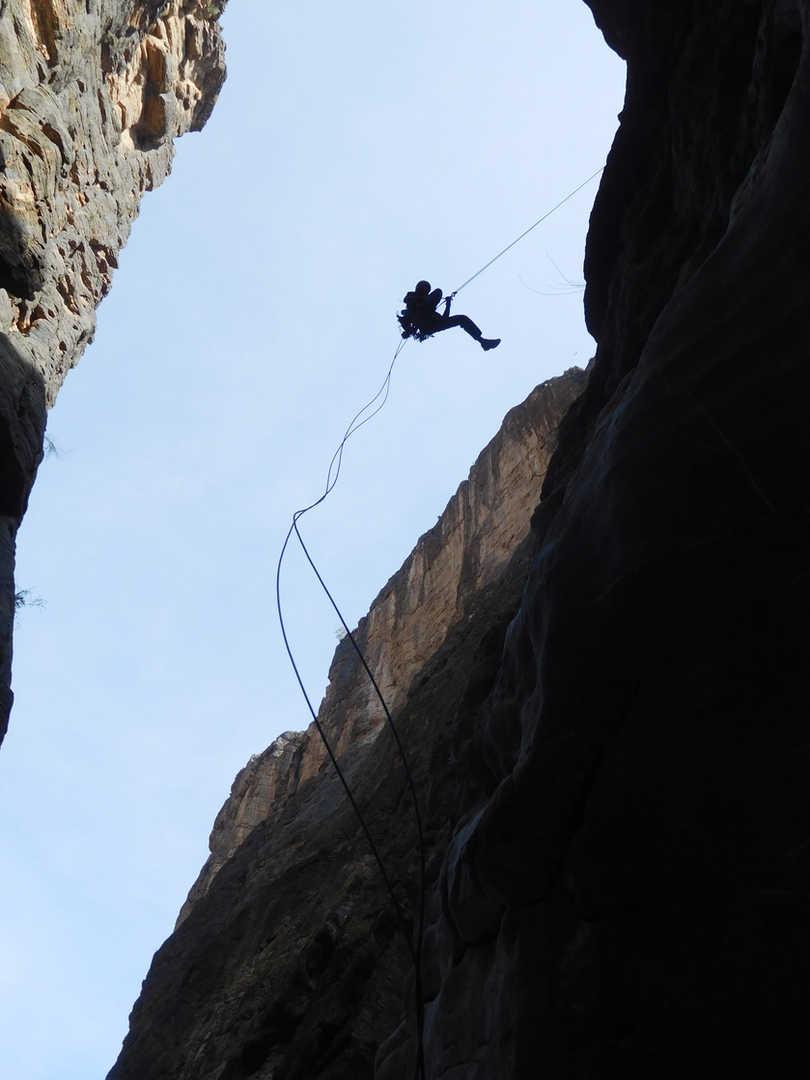 Abseilen am Snake Canyon