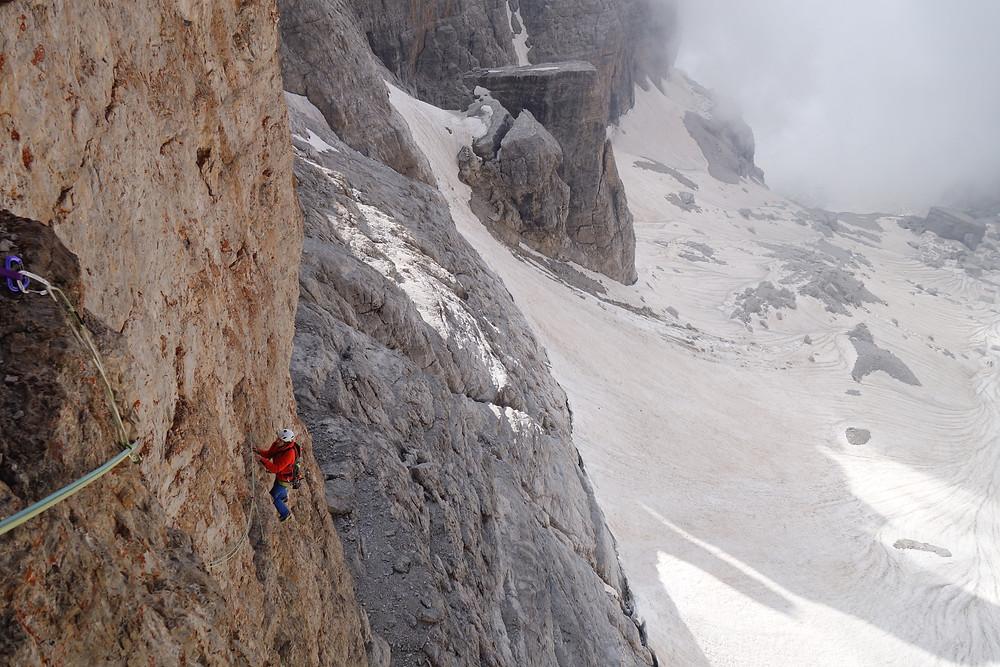 Alpinklettern Brenta Dolomiten Angolo delle Streghe Specchio Magico