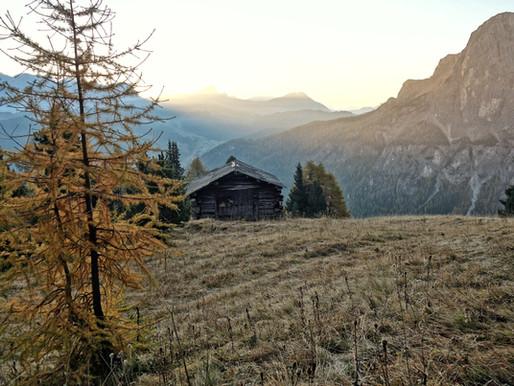 Alpinklettern Dolomiten im Herbst