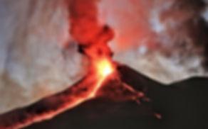 Ätna Ausbruch 2015 Eruption Lava Aschewolke