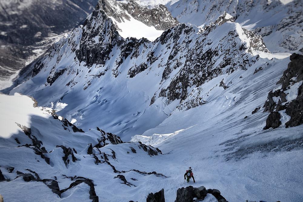 Monte Disgrazia Nordwand Bivacco Oggioni Topo