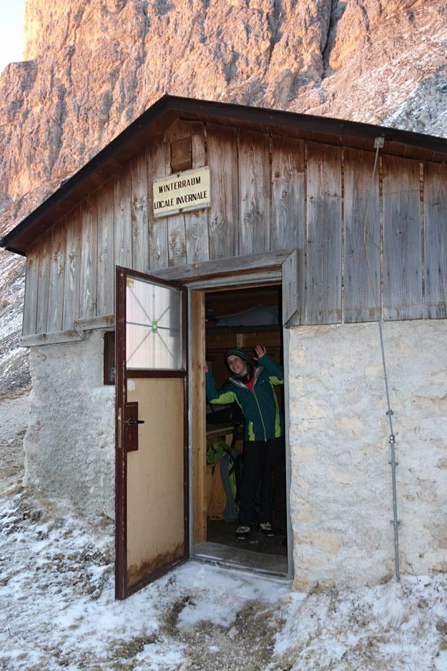 Couloir Rita Kesselkogel Eisklettern Nordwand Rosengarten