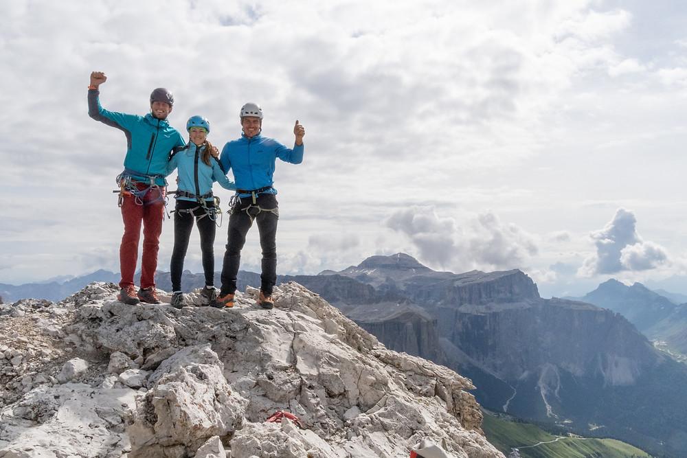 Alpinklettern Dolomiten Fünffingerspitze Topo
