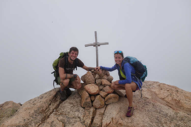 Am Gipfel des Capu d´Orto