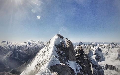 Schweiz Weisshorn Nordgrat Ostgrat Übershreitung