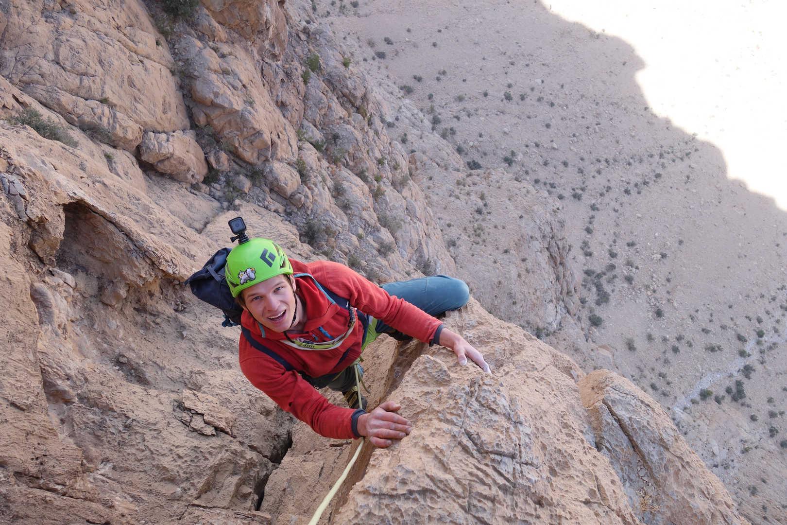 Alpinklettern im Oman