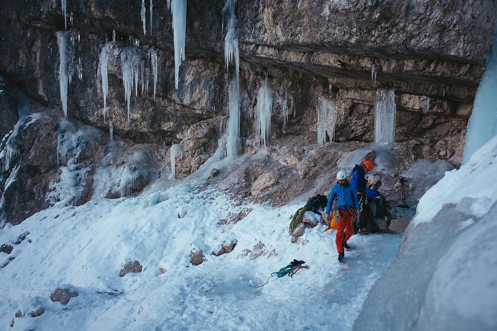 Eisklettern Südtirol Rosslahne Prags