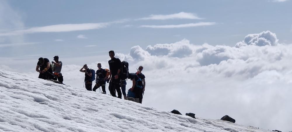 Gletschertour Monte Rosa Parrotspitze Corno Nero Punta Giordani Ludwigshöhe Vincentpyramide