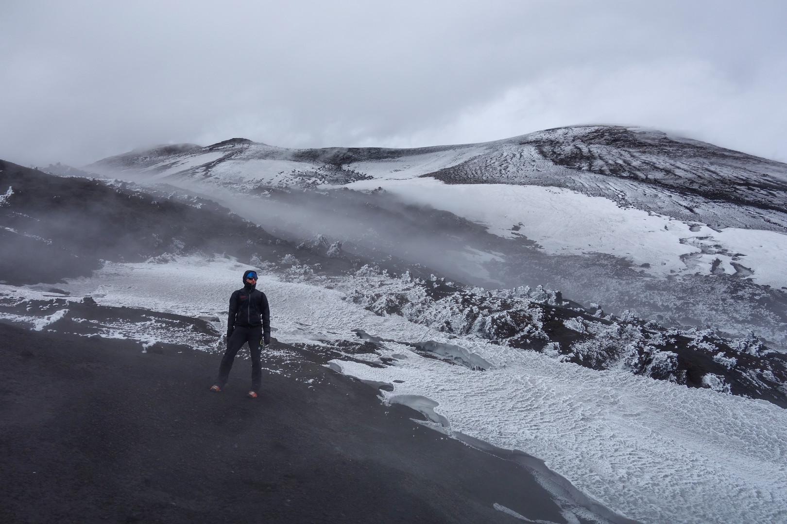 Der Gipfelbereich des Ätna bei meinem ersten Besuch