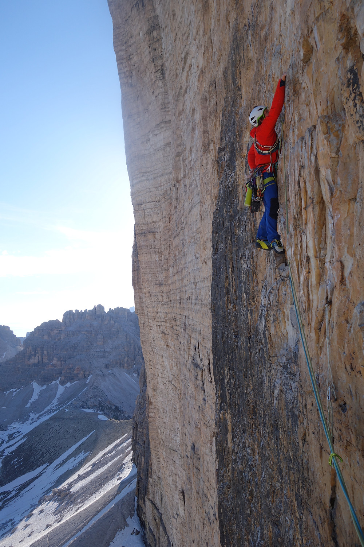 Alpinklettern Comici Drei Zinnen Sextner Dolomiten Südtirol
