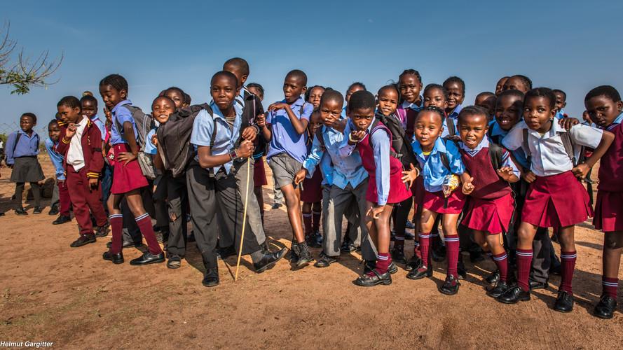 Begeisterte Kinder in Südafrika