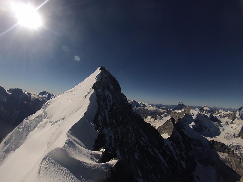 Weisshorn Nordgrat Ostgrat Überschreitung Wallis Himmelsleitern Westalpen Schweiz