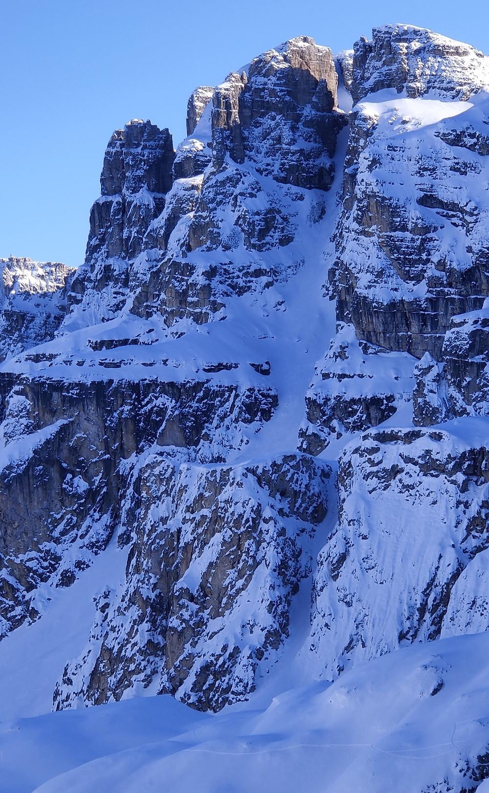 Skitour Puez Geisler Piz Somplunt Nordrinne Dolomiten