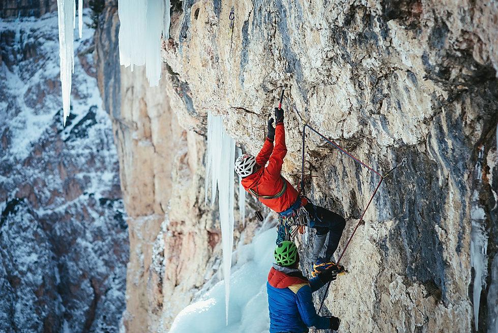 Eisklettern Südtirol Dolomiten Zauberflöte