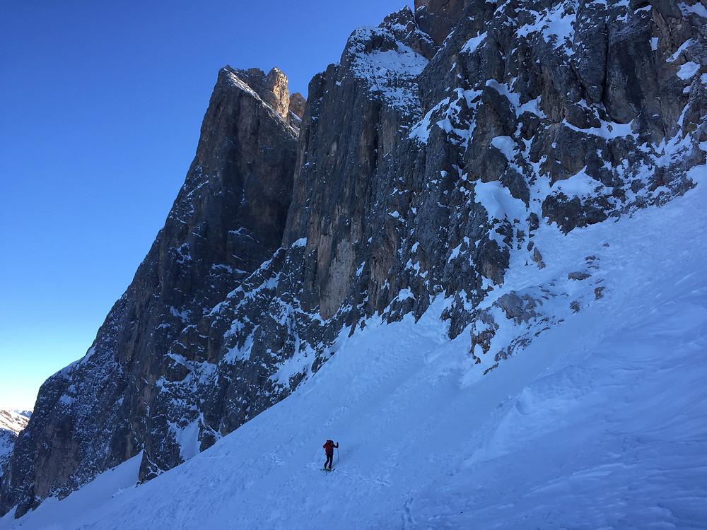 Sas Rigais Nordwestrinne Skitour Dolomiten Mittagsscharte Sass Rigais