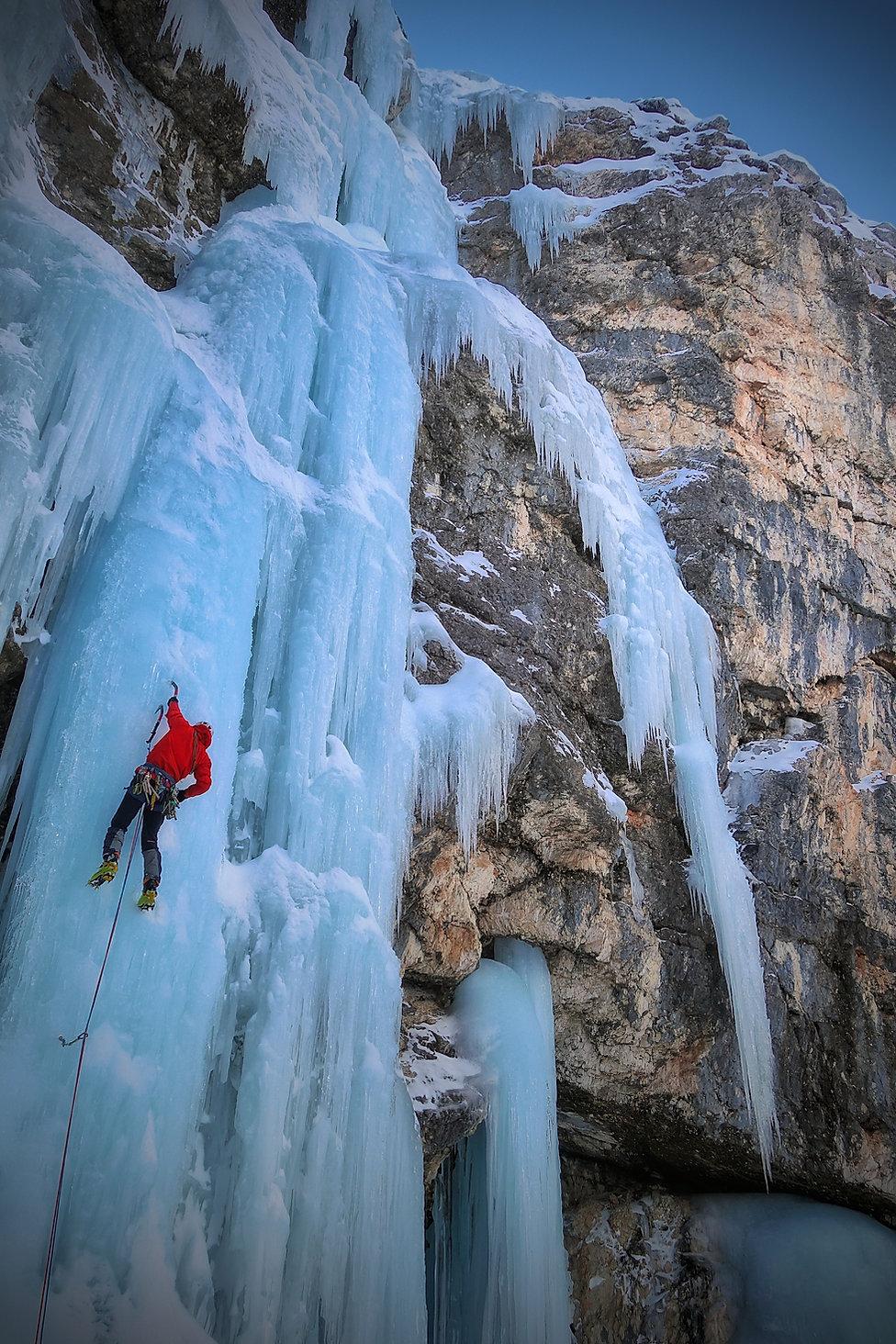 Eisklettern Südtirol Dolomiten Travenanzes