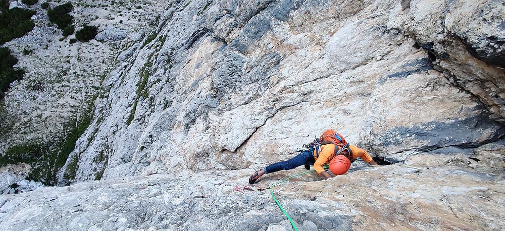 Alpinklettern, Dolomiten, Ciavaces, Abram, Topo