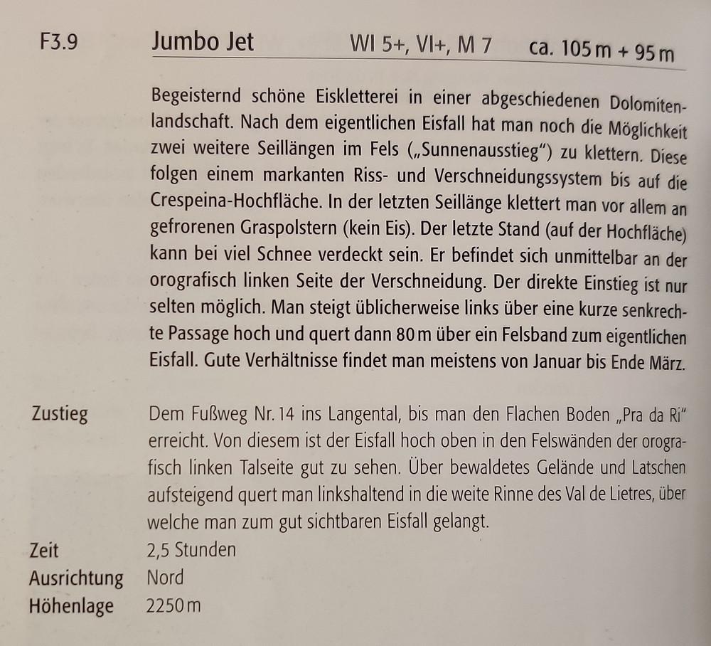 Jumbo Jet Topo Langental
