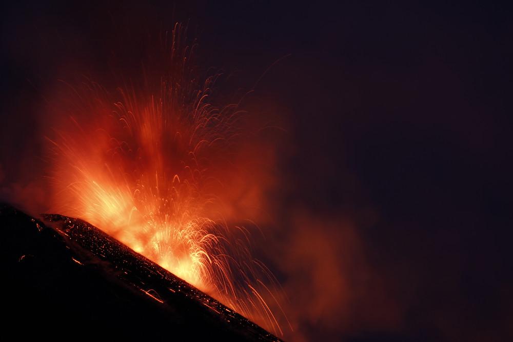 Ätna Sizilien Ausbruch Vulkan Vulkanausbruch