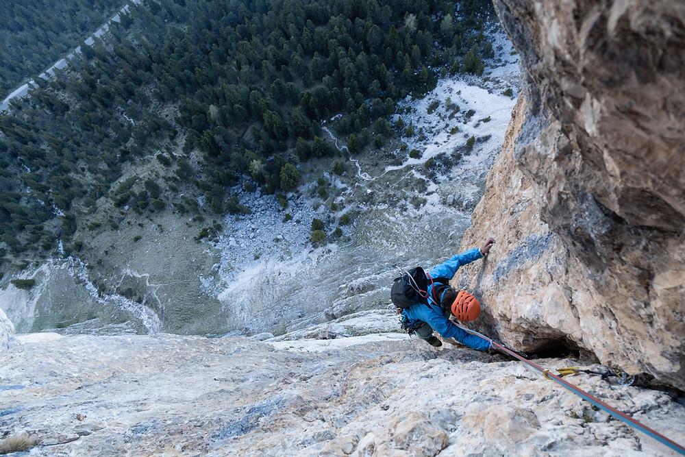 Alpinklettern Südtirol Dolomiten Sella Piz Ciavaces Via Zeni
