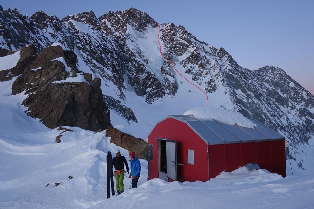Monte Disgrazia Nordwand Topo Parete Nord Northface