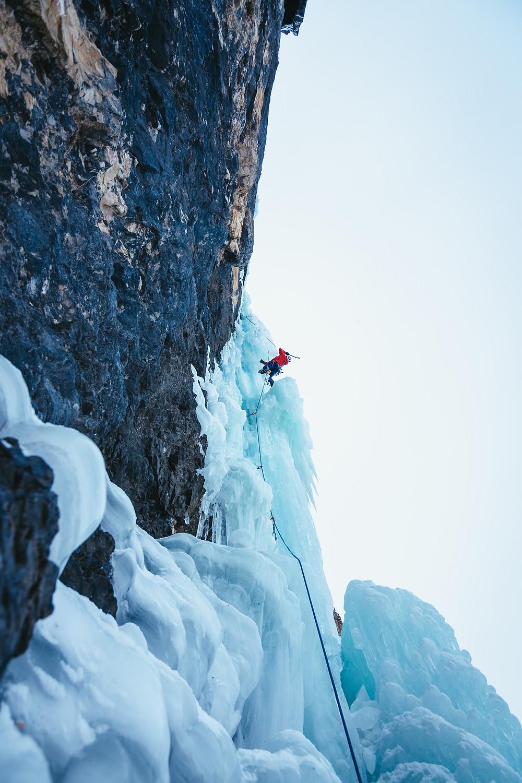 Eisklettern Südtirol Dolomiten Langental Zauberflöte