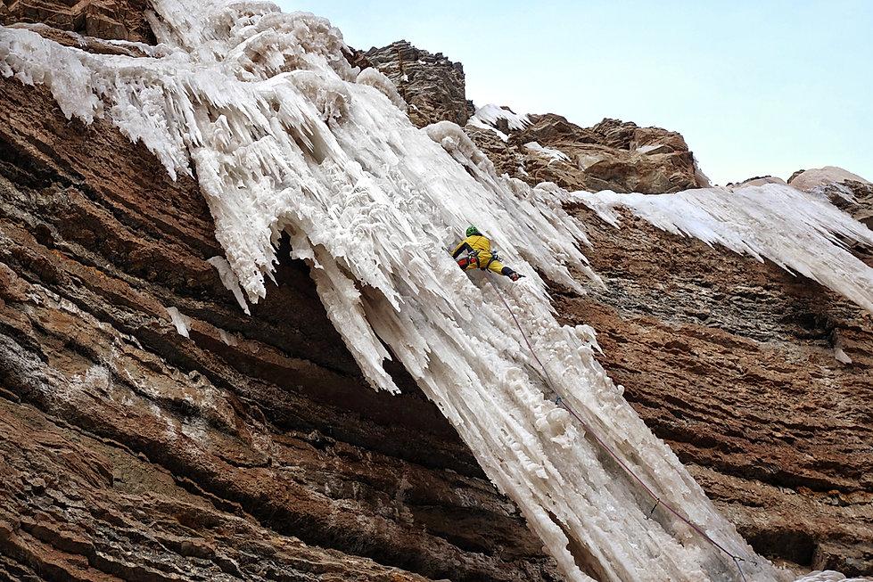 Eisklettern Südtirol Dolomiten Eisgeist