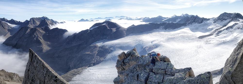 Wilde Leck Ostgrat Stubaier Alpen Himmelsleitern