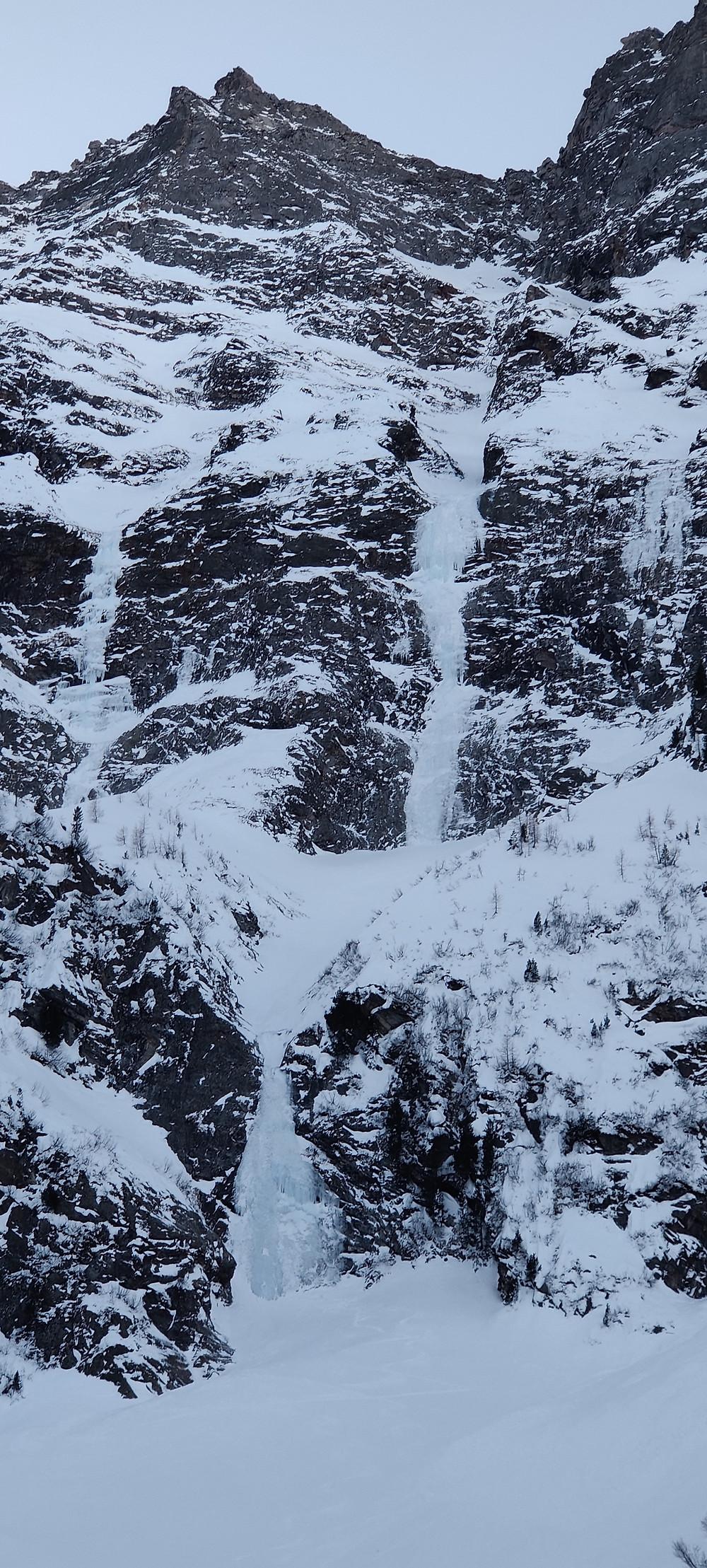 Topo Moonwalk Sagwand Sagwandspitze Innervals Eisklettern längste Eislinie Österreichs