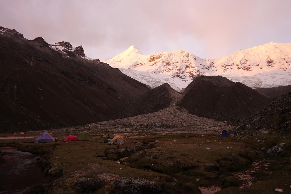 Tocclaraju Ishinca Valley Cordillera Blanca Peru