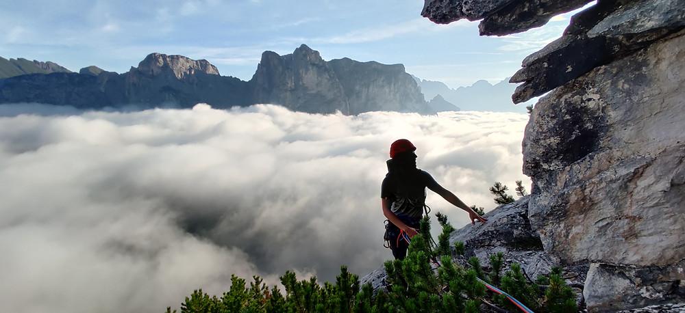 Alpinklettern Monte Agner Nordkante Dolomiten Topo