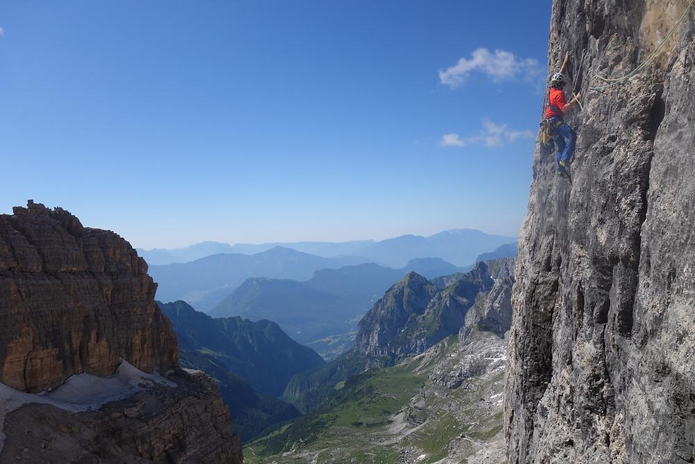 Alpinklettern Brenta Dolomiten Cima d´Ambiez Via Concordia