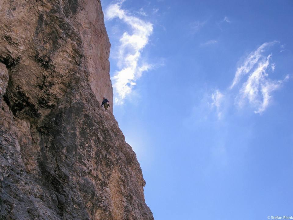 Innerkoflerturm Langkofel Via del Calice Alpinklettern