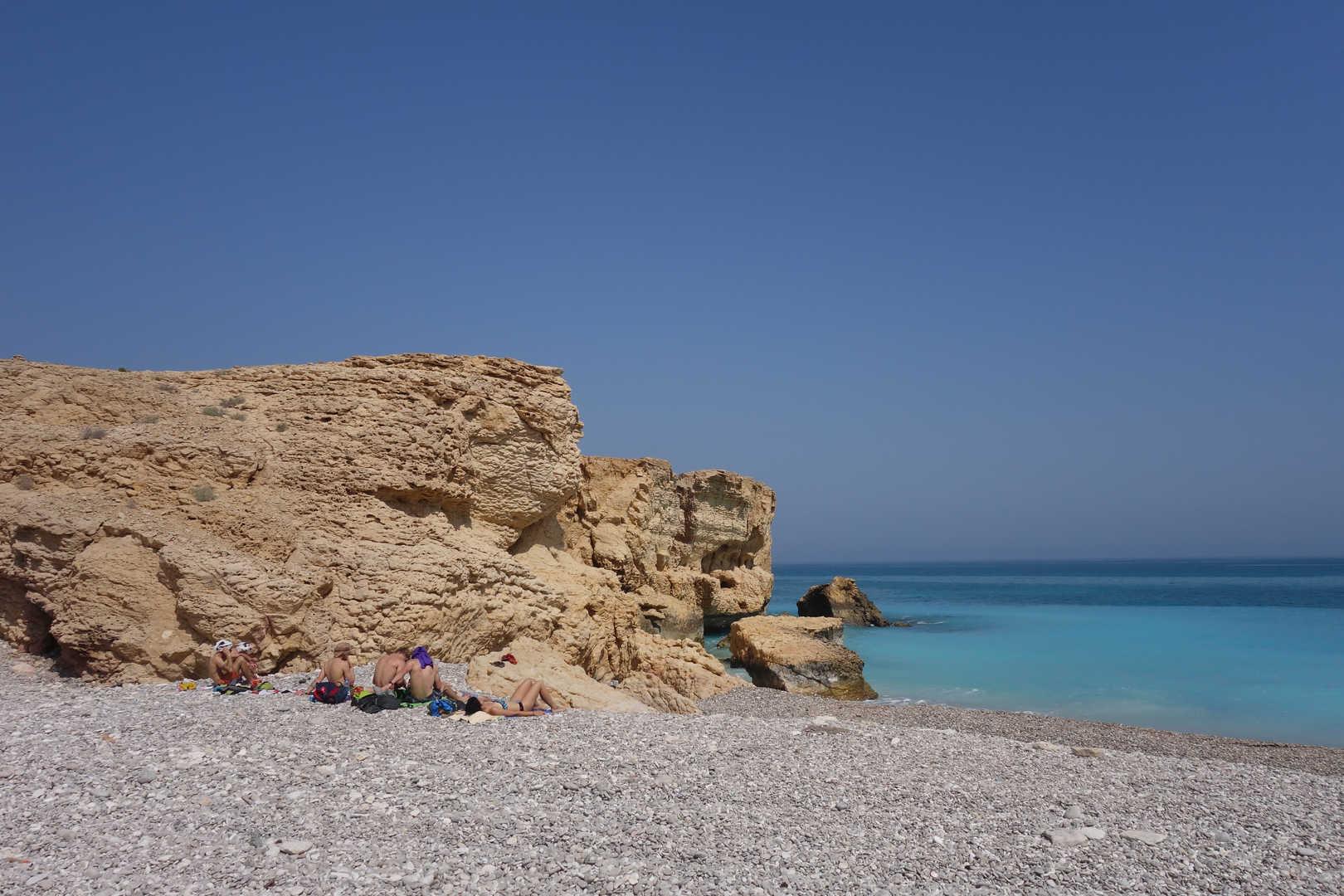 verlassene Traumstrände im Oman