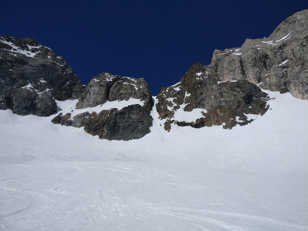 Skitour Nordwand Bergell Cima di Rosso Capanna del Forno